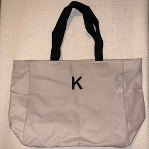 Adorable Tote Monogrammed With A K